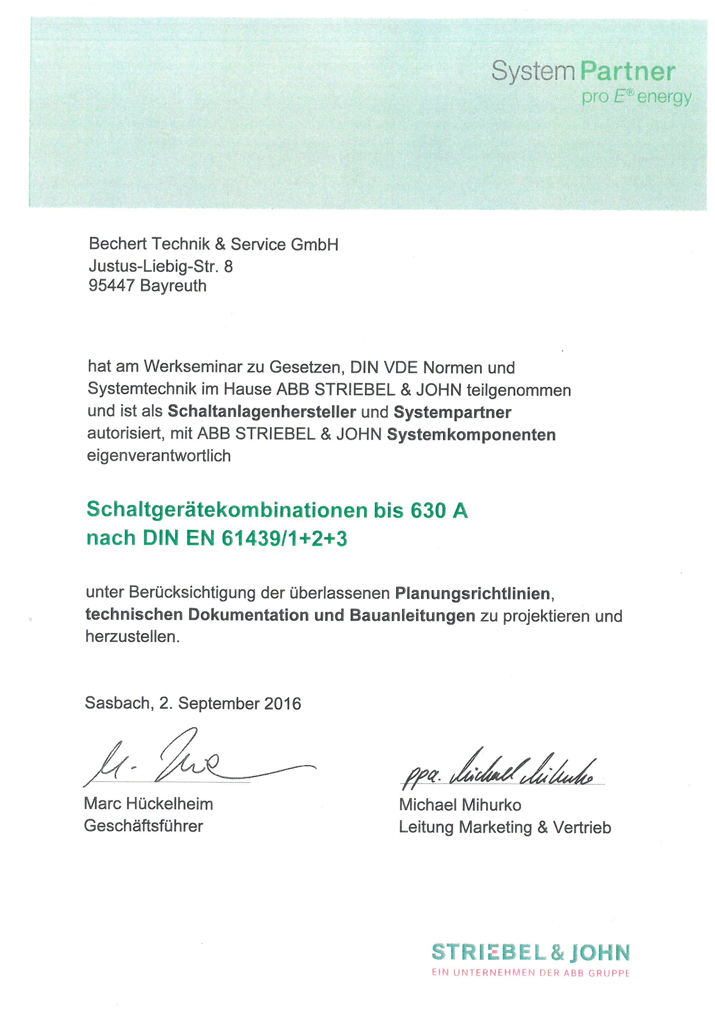 Schaltanlagenhersteller und Systempartner ABB Striebel & John